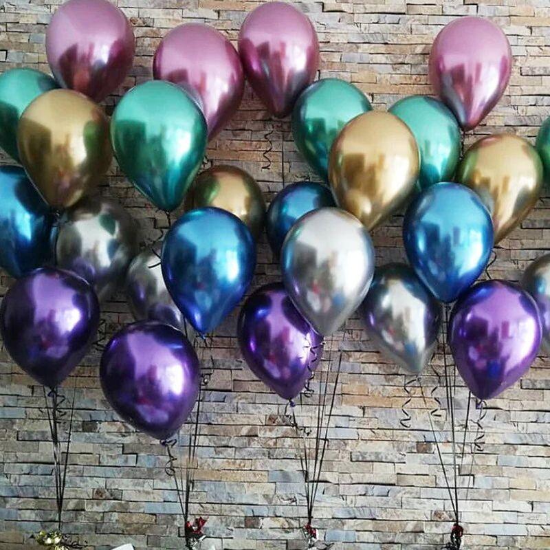 Случайные цветные воздушные шары 6 шт