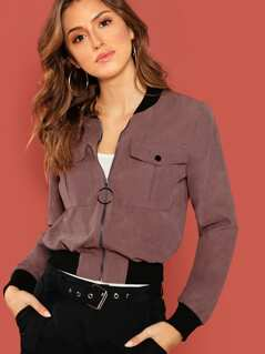 Flap Pocket O-ring Zip Jacket