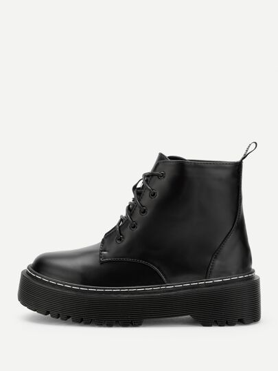 11945f0a2d Lace-Up Martin Boots