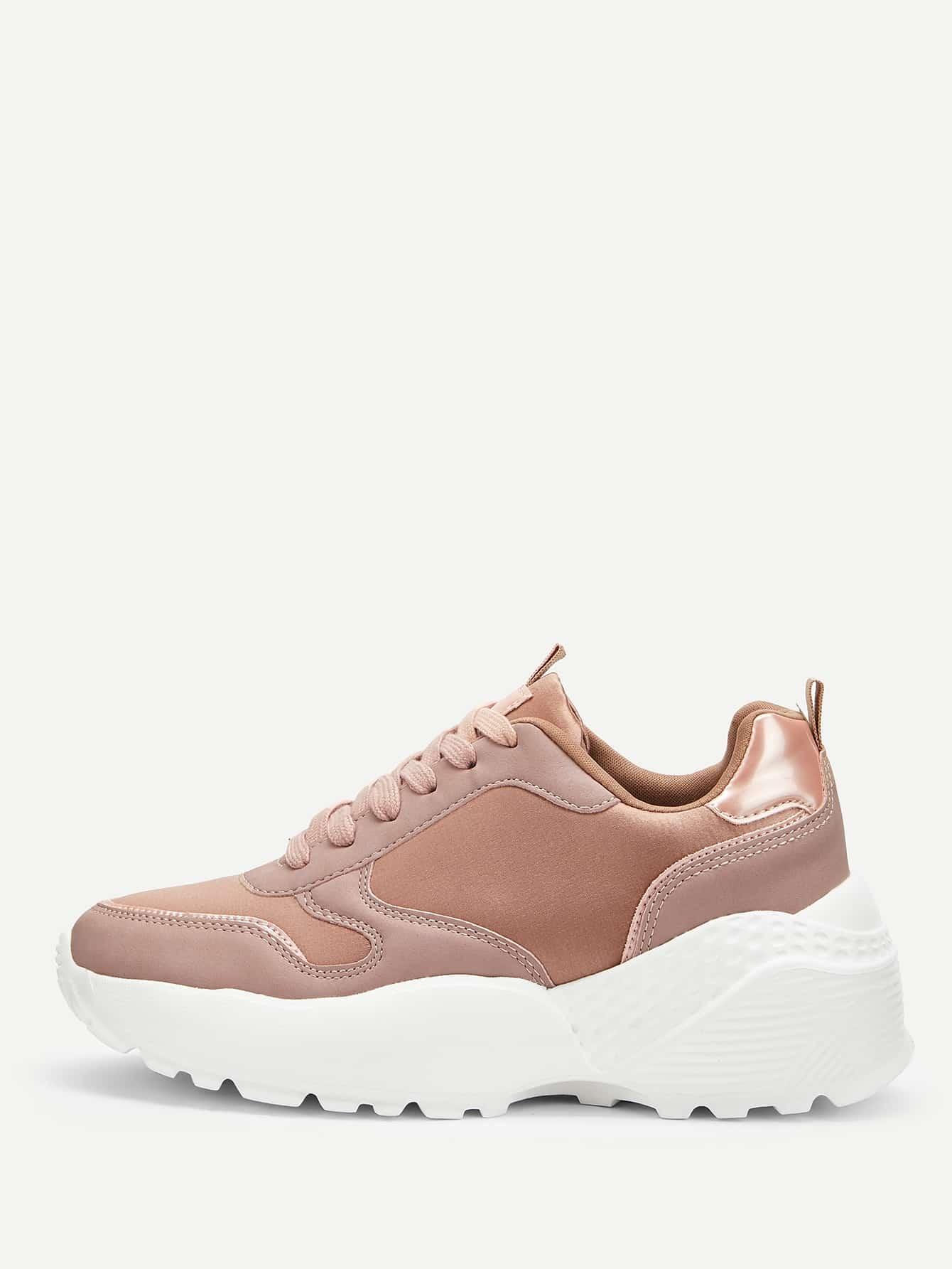 Купить Квадратный носок Розовый Кеды, null, SheIn