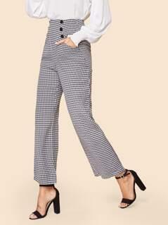 70s Zip Fly Houndstooth Pants