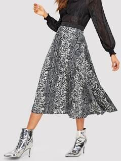 Snakeskin Print Swing Dress