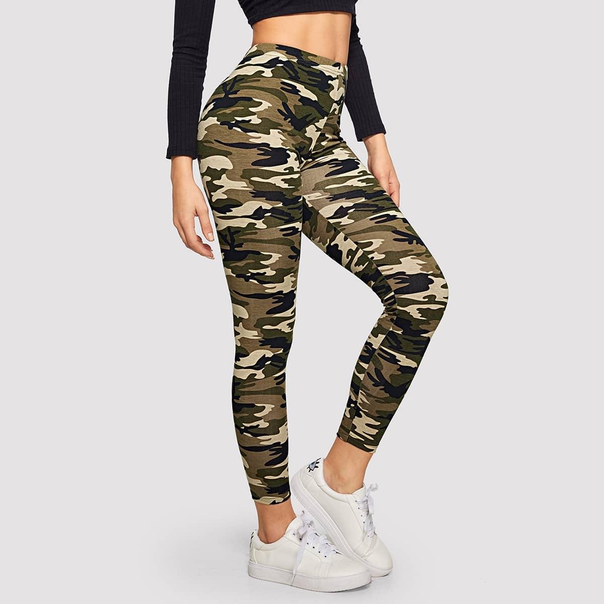 Veel kleurig Sporten Camouflage Leggings