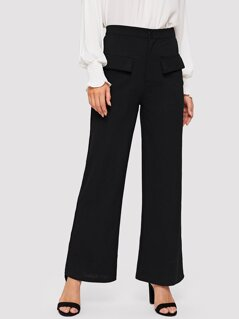 Wide Leg Tailored Pants