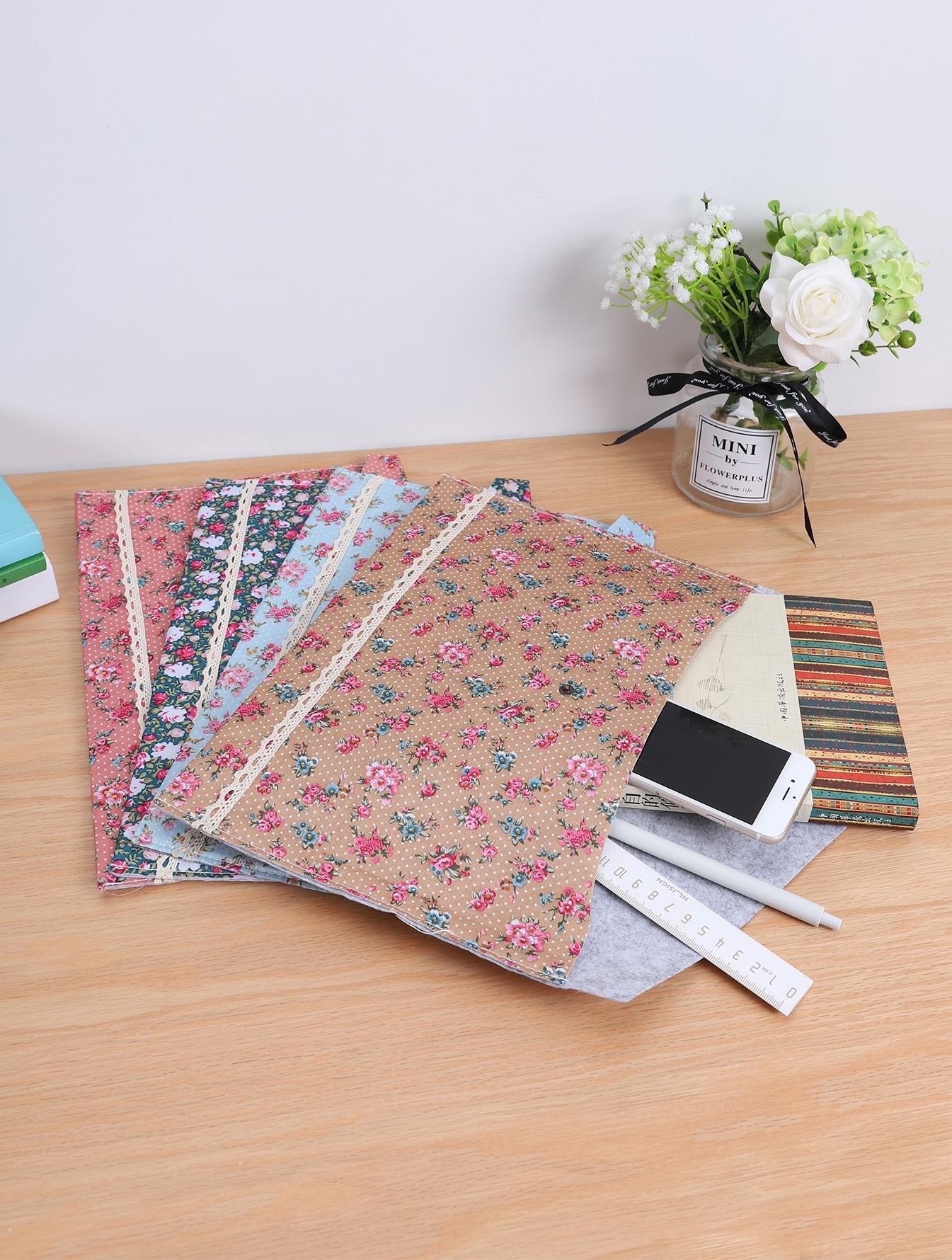 Купить Произвольная сумка для хранения документов с цветочным принтом 1шт, null, SheIn