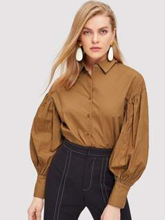 Drop Shoulder Solid Shirt