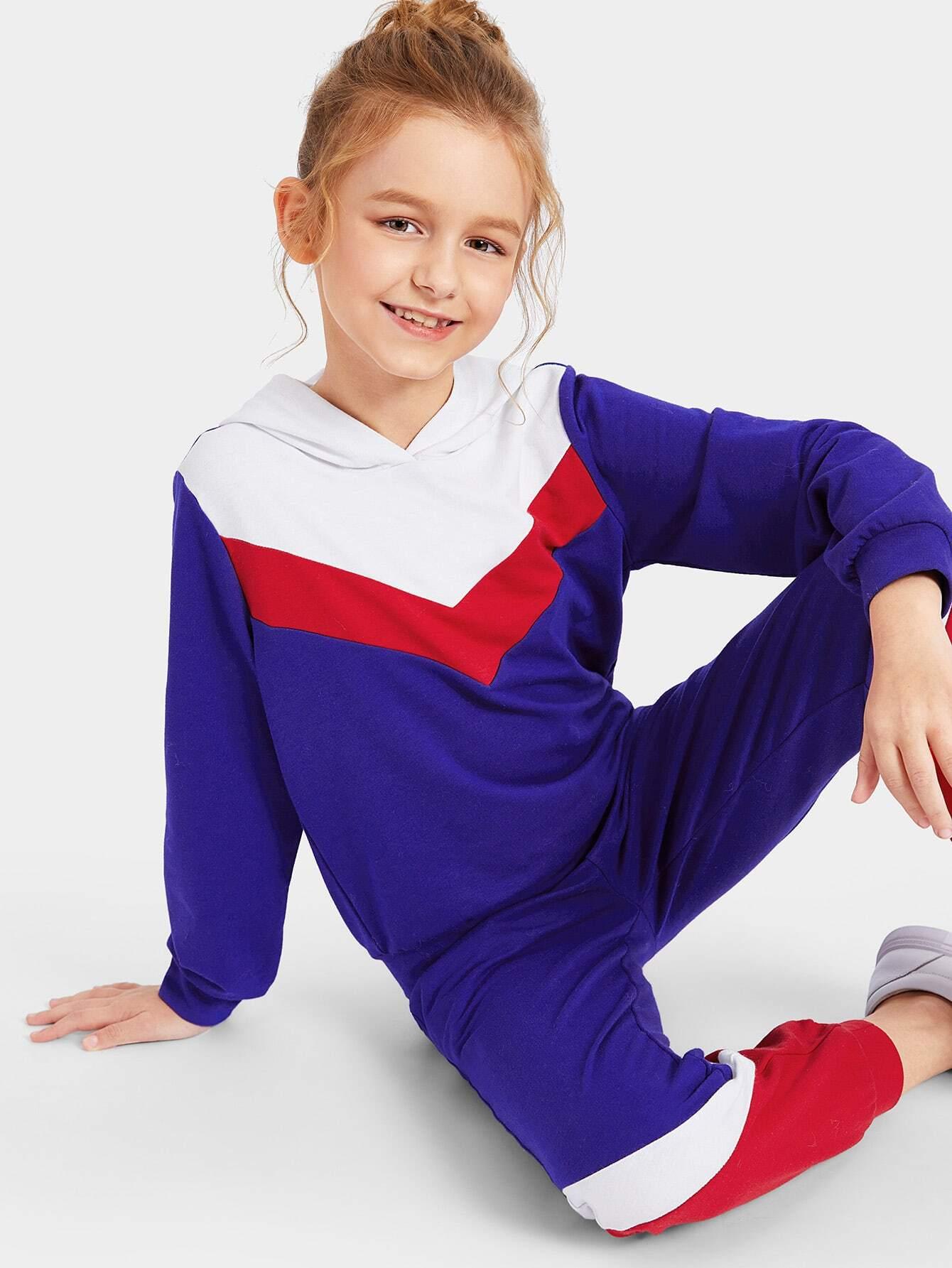 Купить Женская кроить и шить толстовка и спортивные брюки комплект, Sashab, SheIn