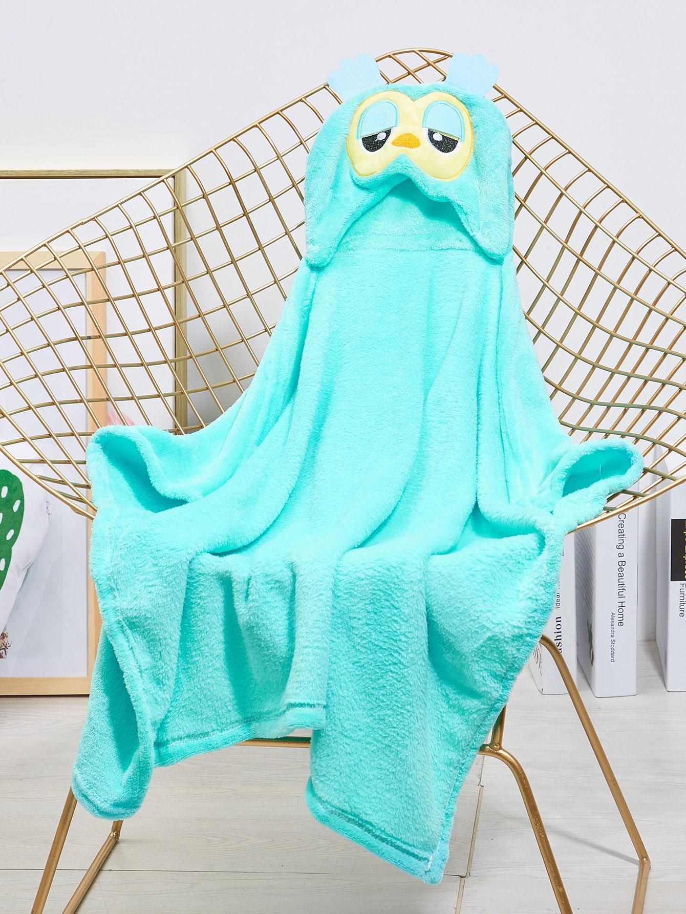 Купить Одеяло с принтом мультяшной совы для детей, null, SheIn