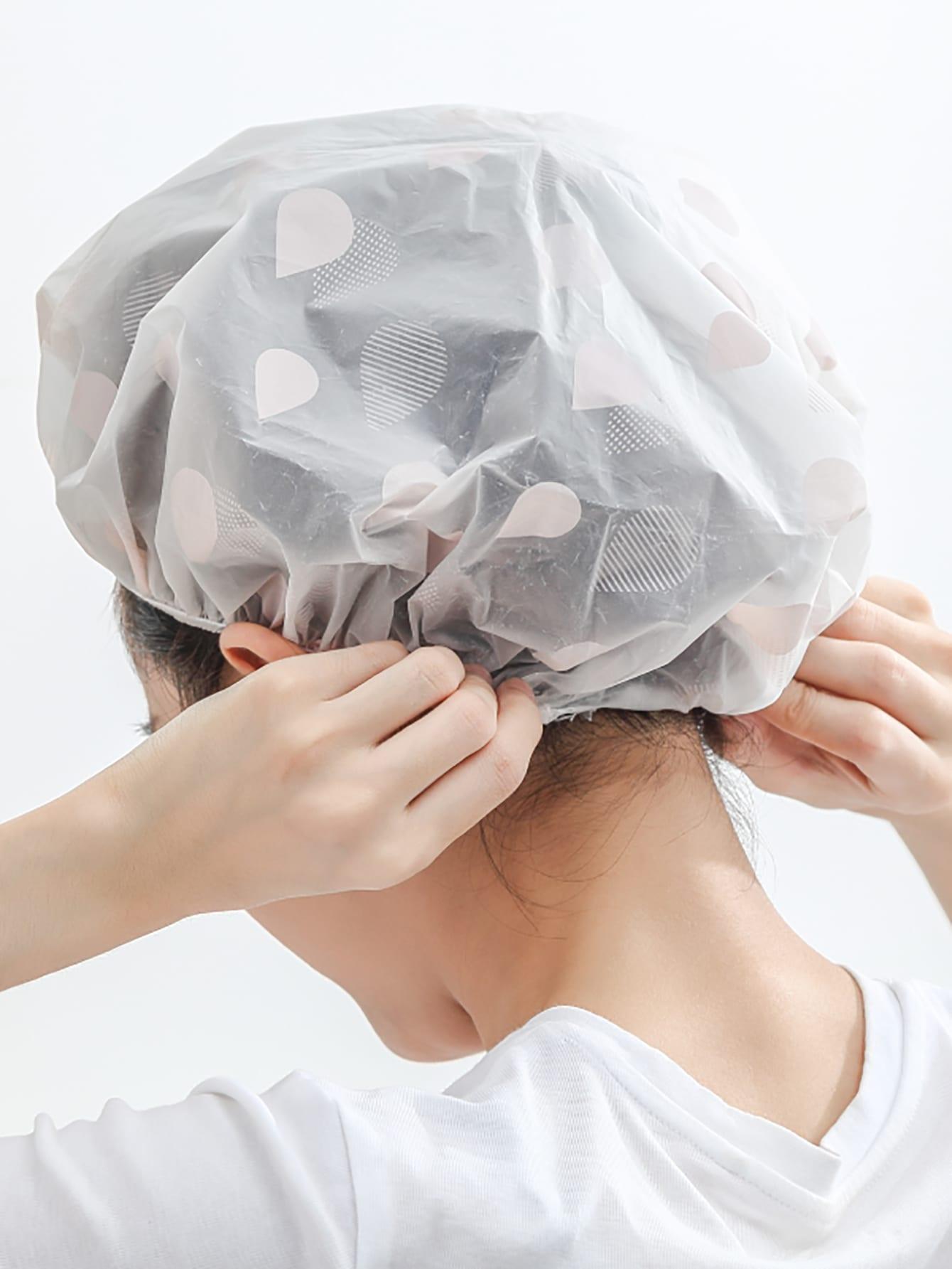 Купить Случайная капля воды сухая шапочка для душа 1шт., null, SheIn