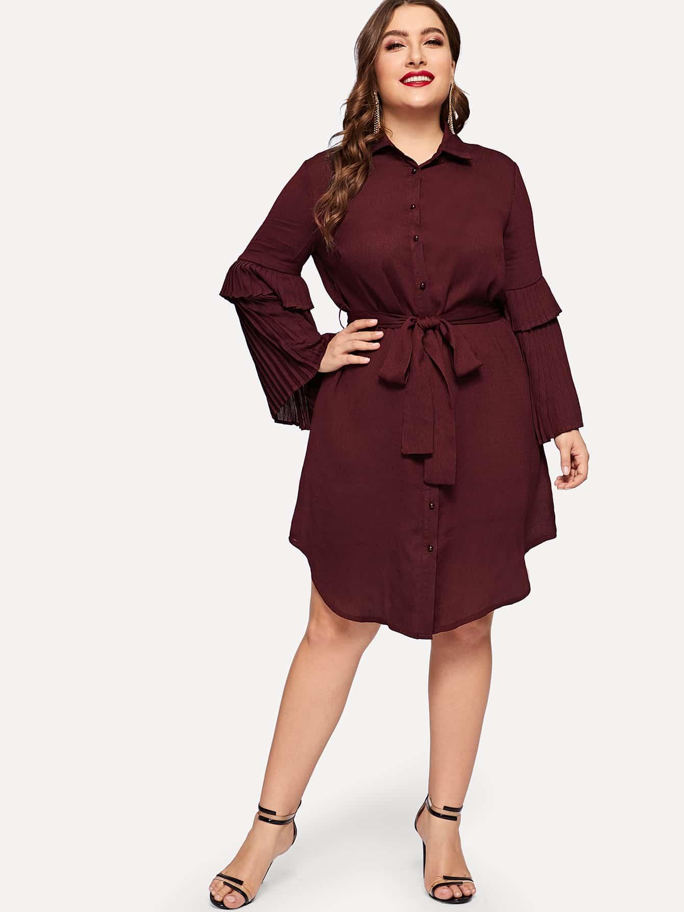 Размера плюс платье-рубашки