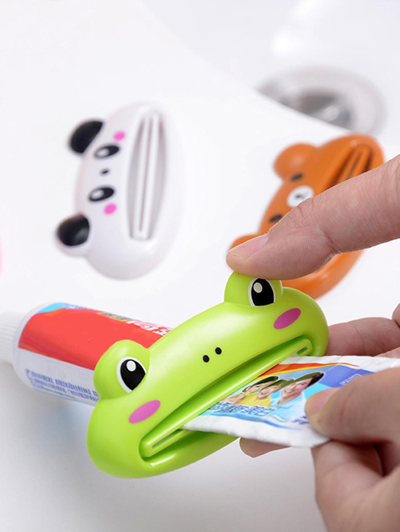 Cor aleatória Sapo Espremedor de pasta de dentes 1pc