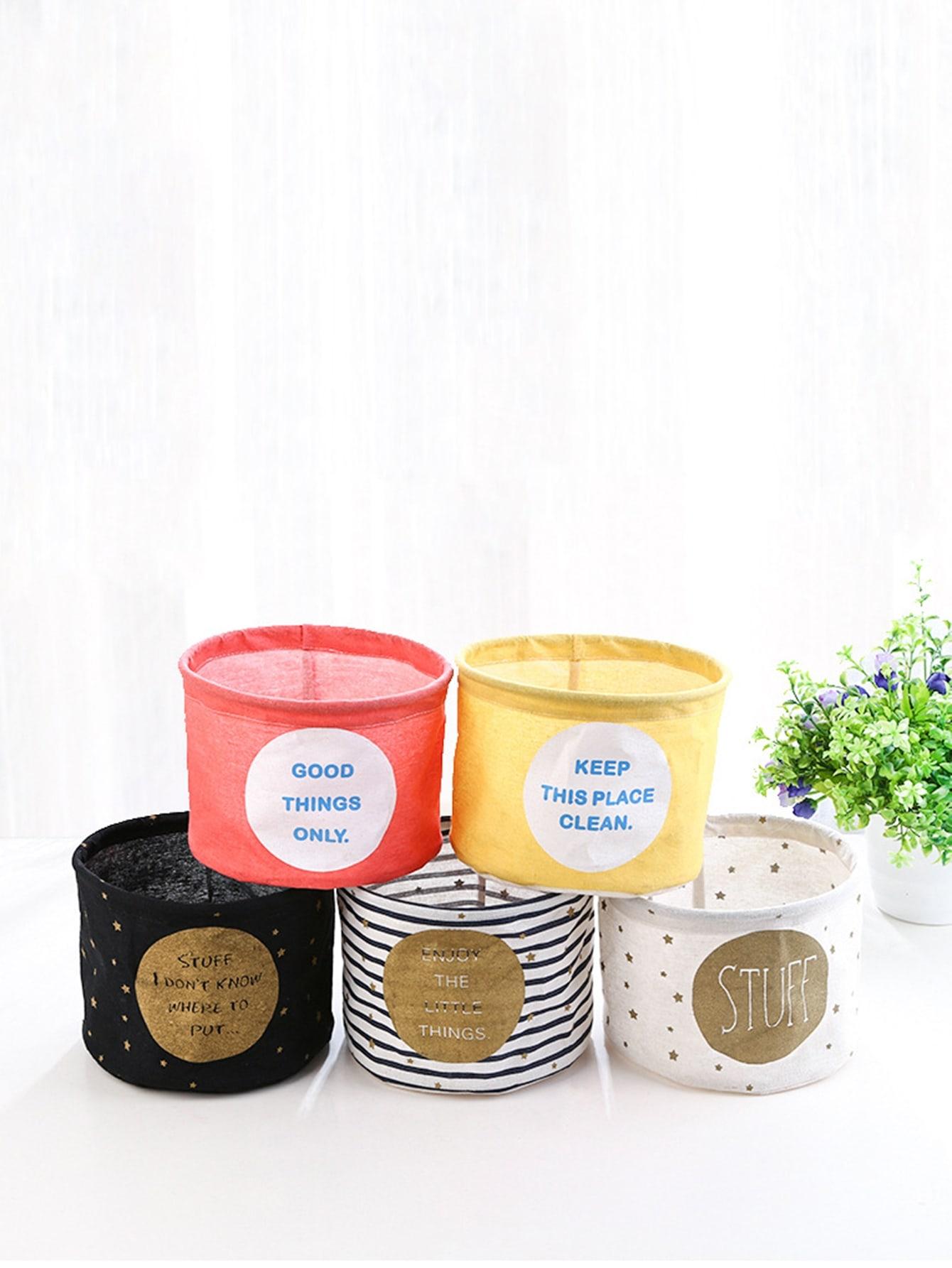 Купить Случайная Цветная Настольная Корзина Хранения 1шт., null, SheIn