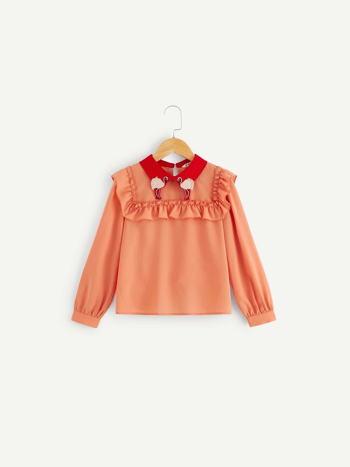 Купить Женская блузка со складкой, null, SheIn