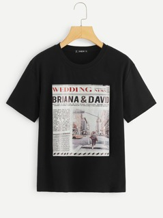 Graphic Patched Tee