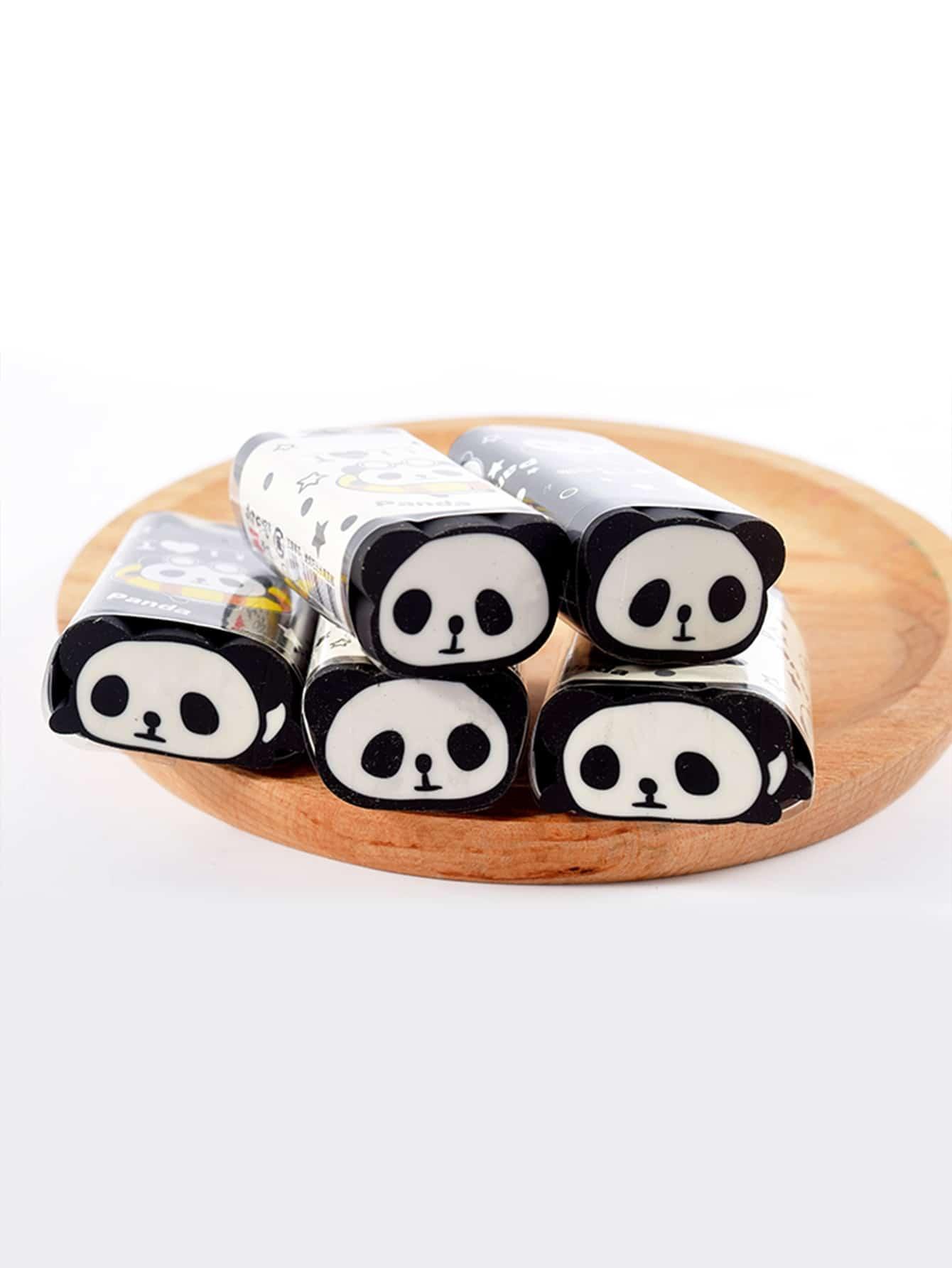 Купить Ластик с рисунком панды 1 шт. расцветка произвольная, null, SheIn