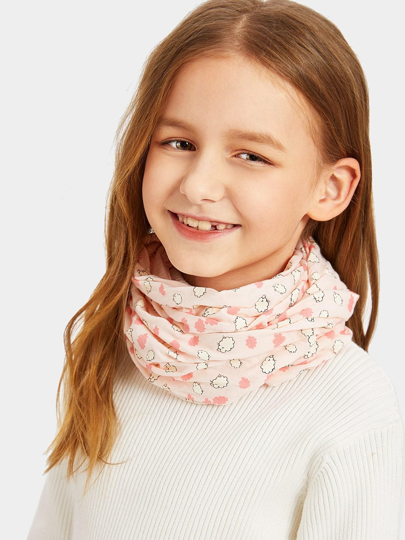 Купить Мультфильм шарф для девочек, null, SheIn