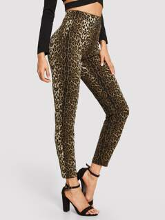 High Waist Leopard Pants