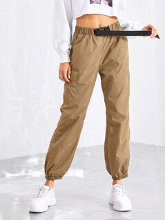 Push Buckle Front Pocket Side pants