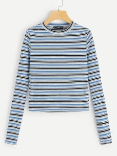 Striped Slim Fitted Tee