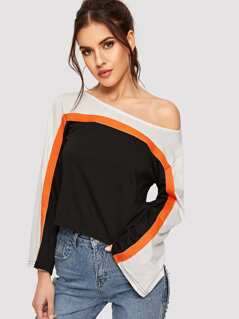 Color-block Tunic Tee