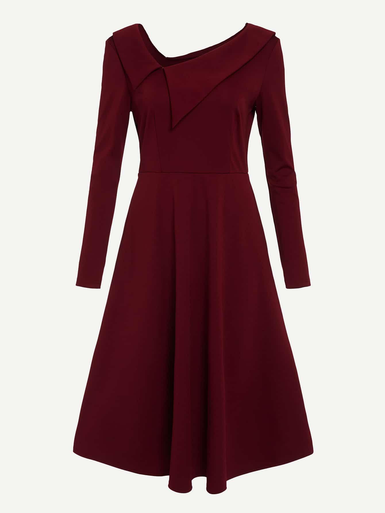 Фото - Длинное стильное платье от SheIn цвет бургундия