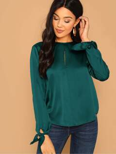 Keyhole Back Knot Cuff Solid Top