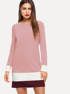 Color-block Tunic Dress