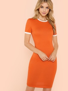 Fitted Ringer Tee Dress