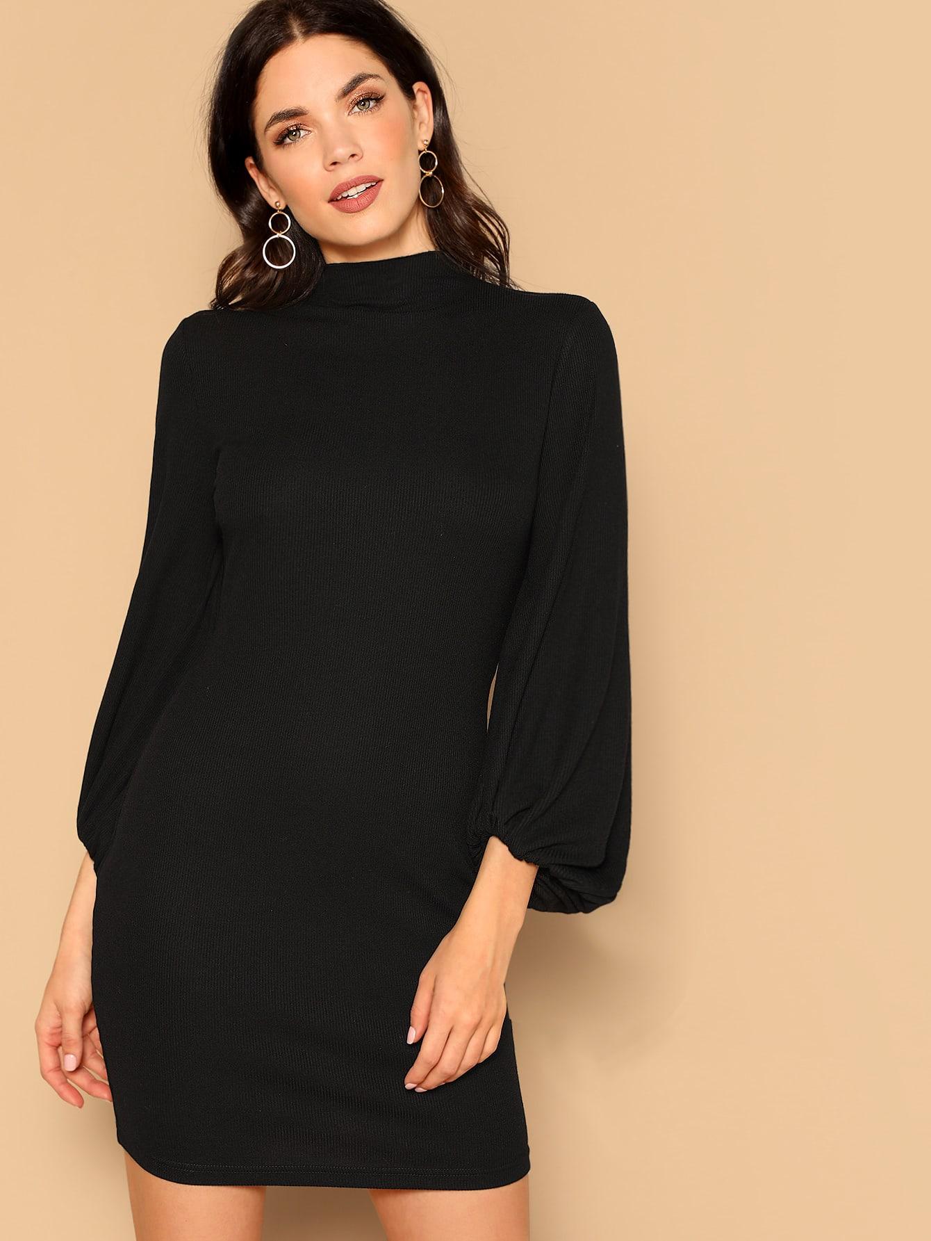Купить Платье с оригинальным рукавом и стоячим воротником, Aarika Wolf, SheIn