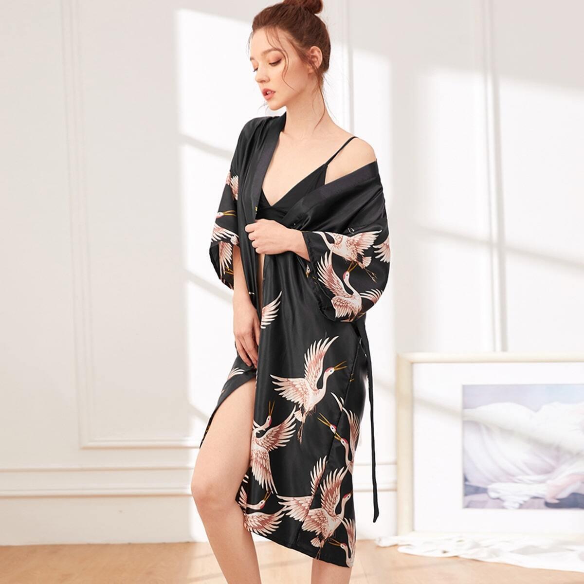 Zwart Elegant Dieren Lounge kleding Riem