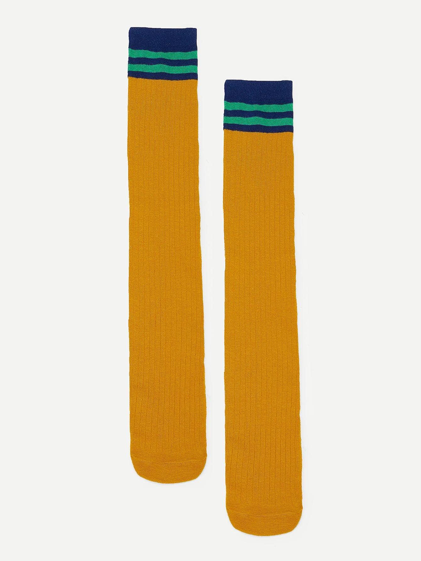 Купить Полосатый Имбирный Детские носки и колготки, null, SheIn