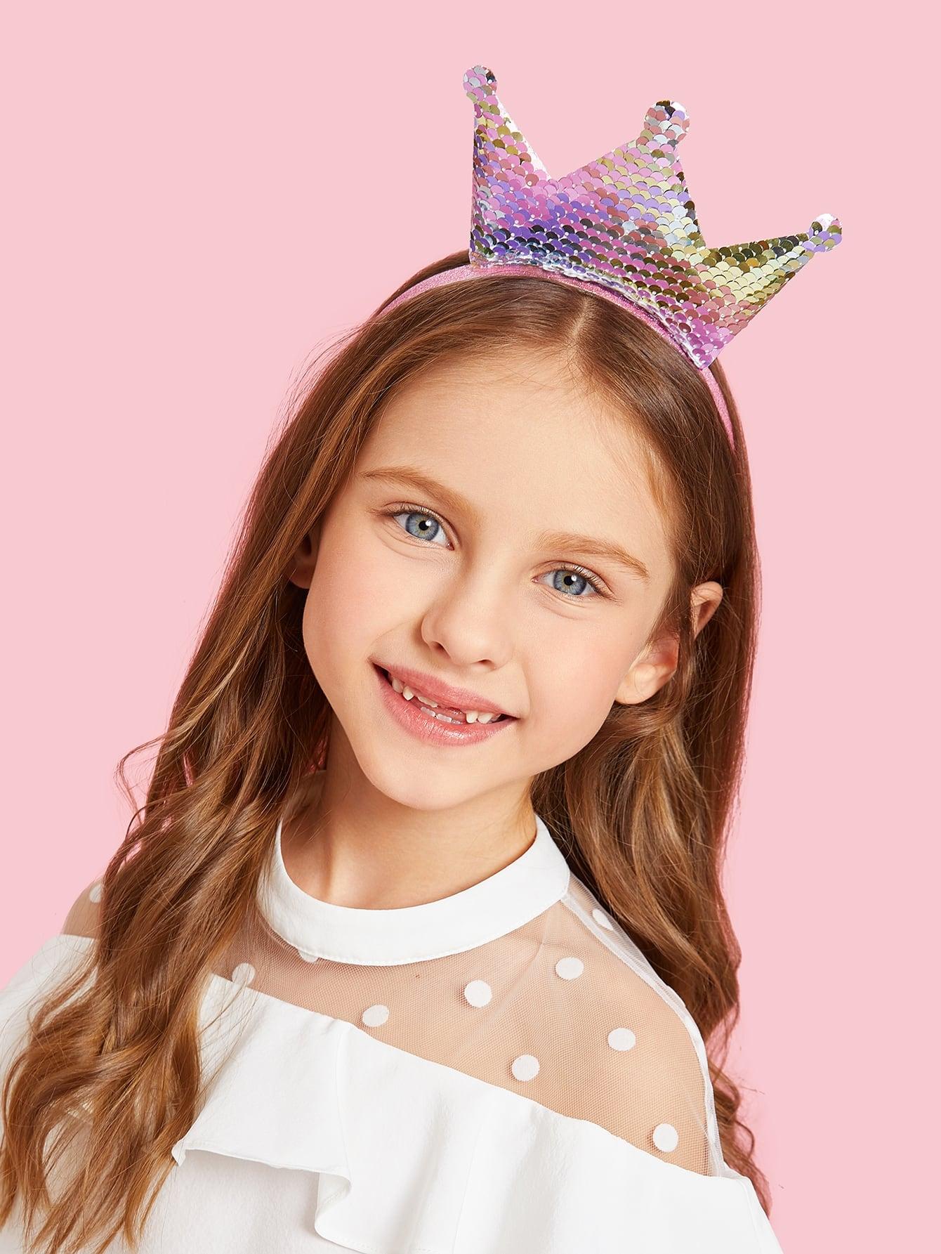 Купить Ободок для волос и с украшением короны фольги для девочки, null, SheIn