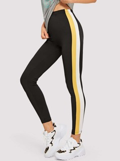 Striped Side Seam Leggings