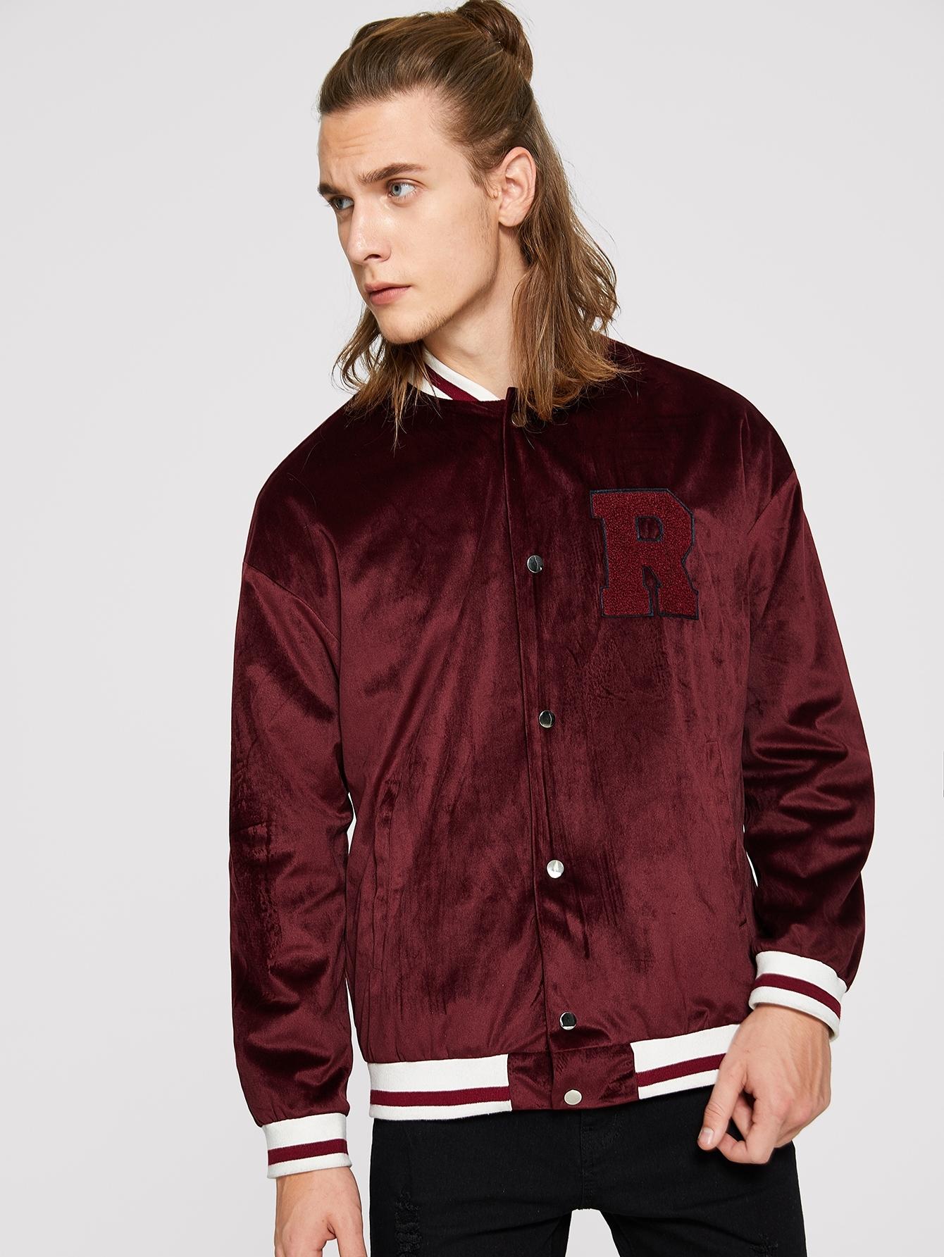 Купить Мужская куртка с текстовым принтом, EGOR, SheIn