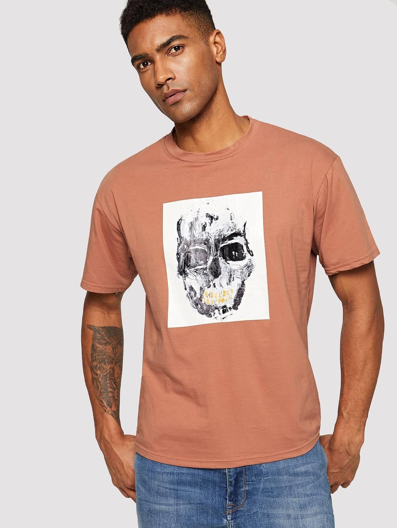 Купить Мужская футболка с принтом чепера, Johnn Silva, SheIn