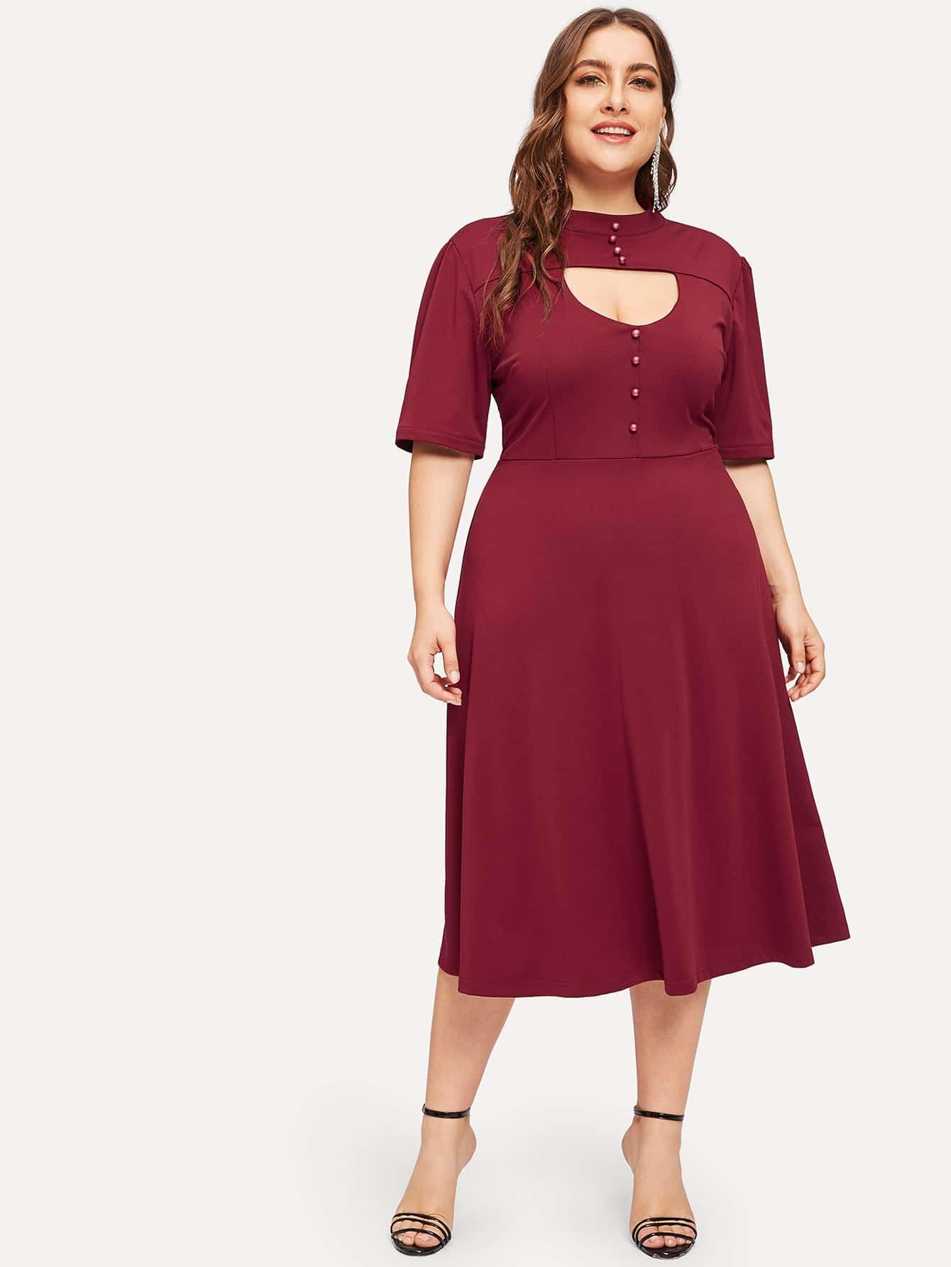 Размера плюс платье с бисерами