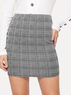 Plaid Bodycon Skirt