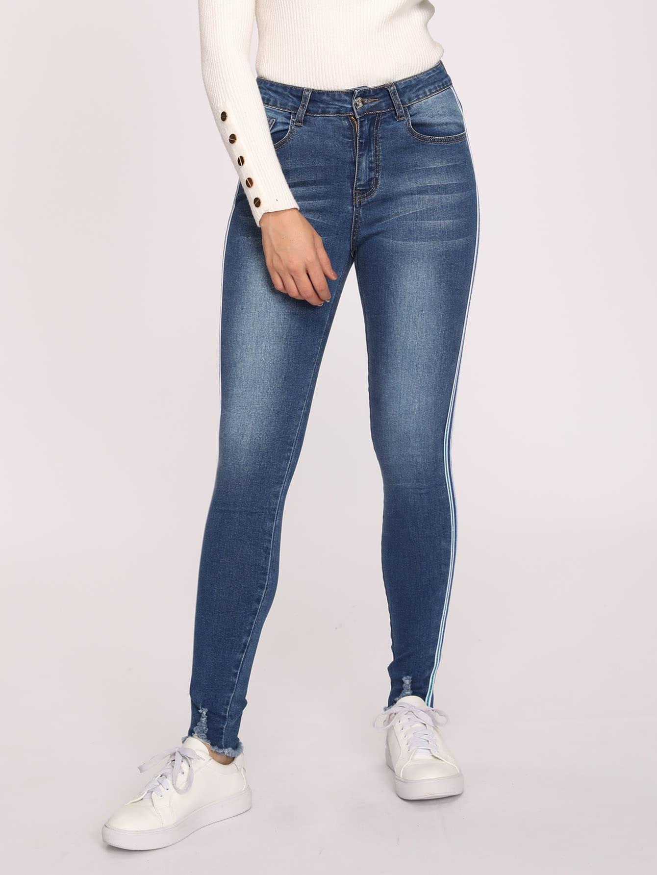 Купить Приталенные стильные джинсы, DANI A, SheIn