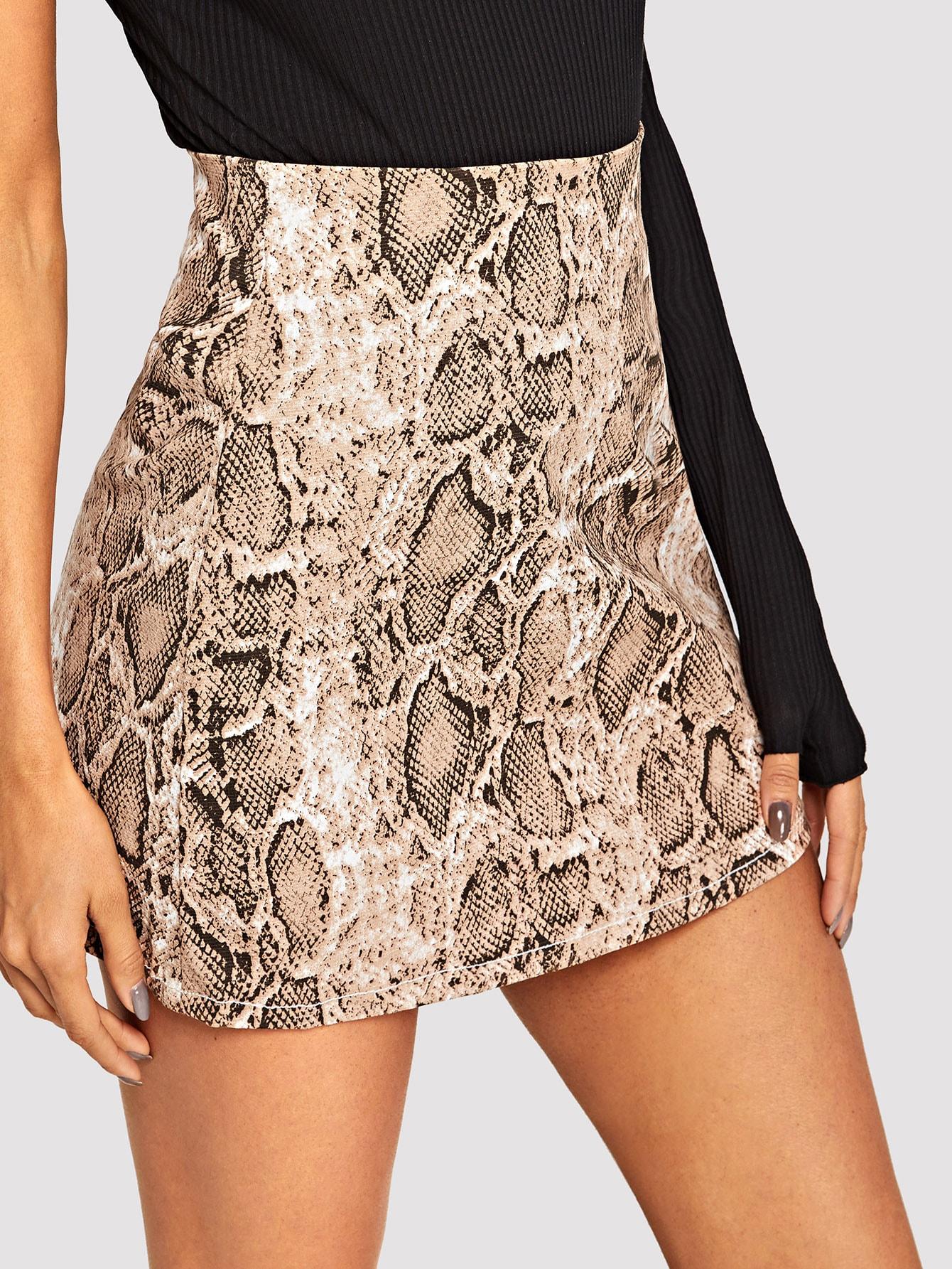 Джинсовая юбка  Многоцветный цвета