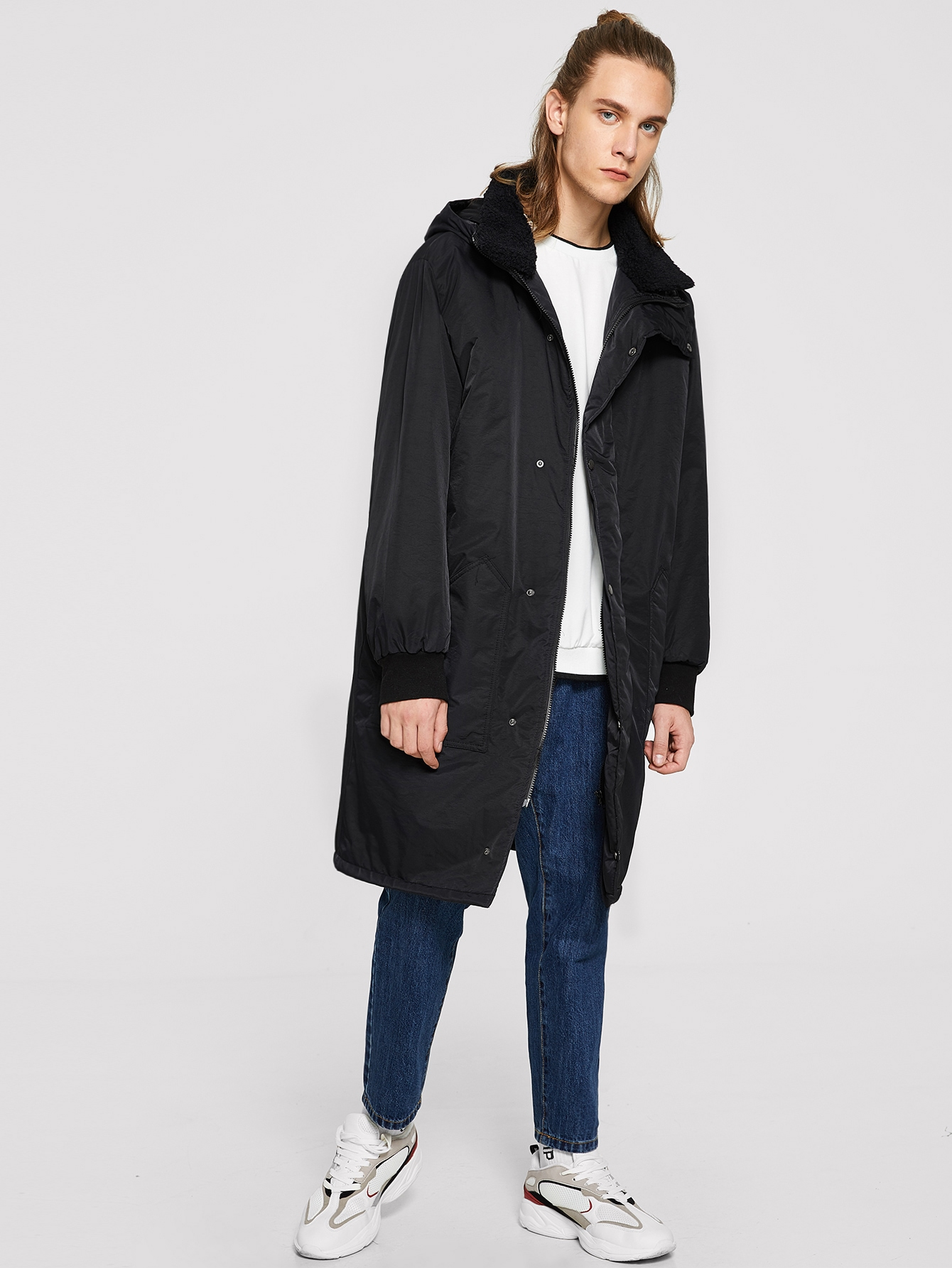 Купить Мужское пальто с карманом и толстовка, EGOR, SheIn