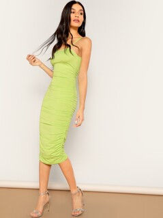 Ruched Cami Midi Dress