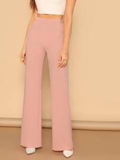 Elastic Waist Straight Leg Pants