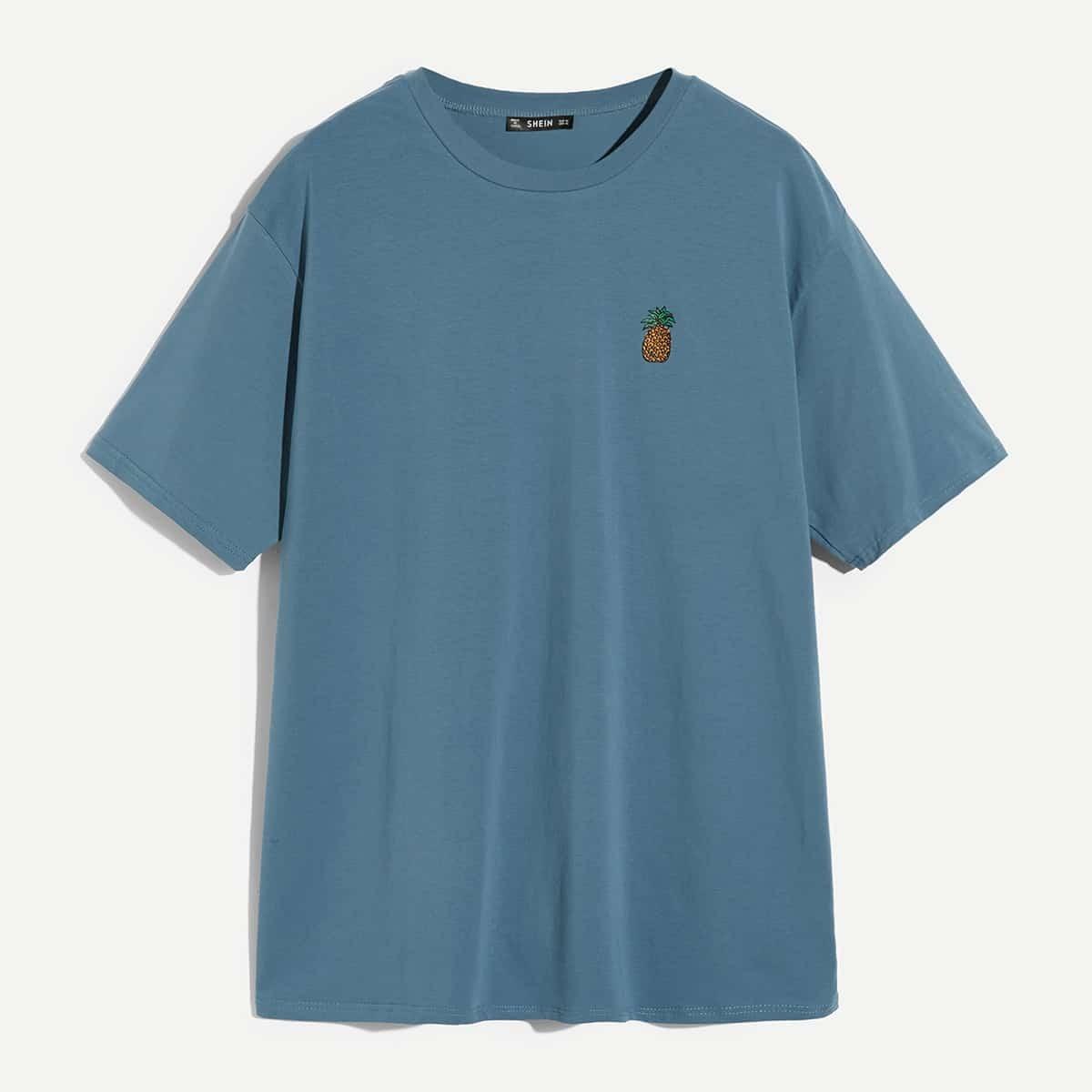 Blauw Casual Fruit & groenten Shirts mannen