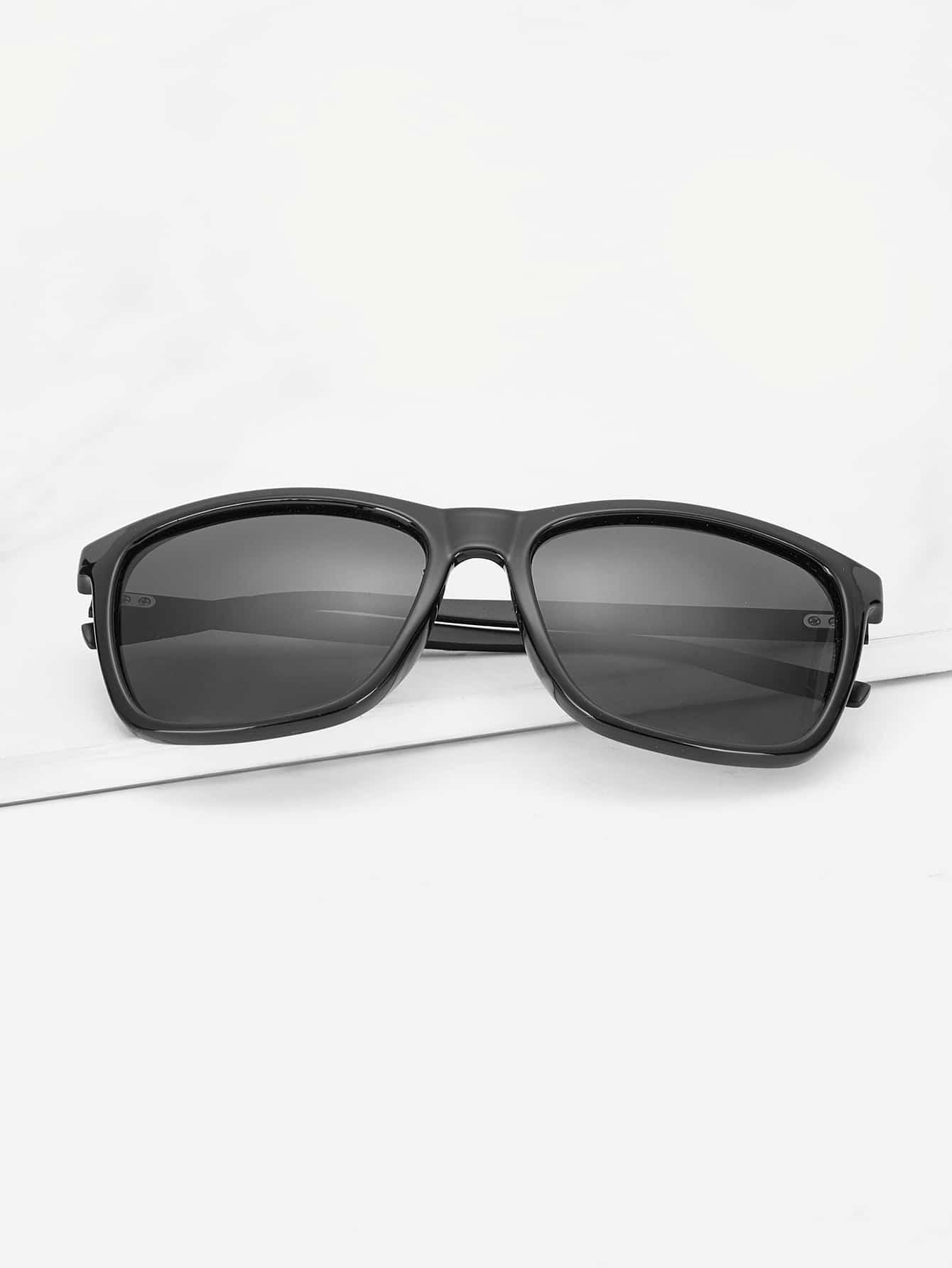 Купить Мужские солнцезащитные очки в простой оправе, null, SheIn
