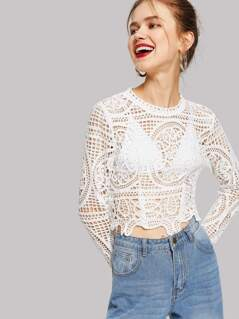 Solid Cutout Crop Top