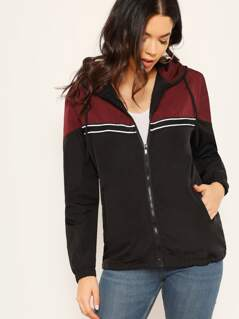 Color-Block Zipper Jacket