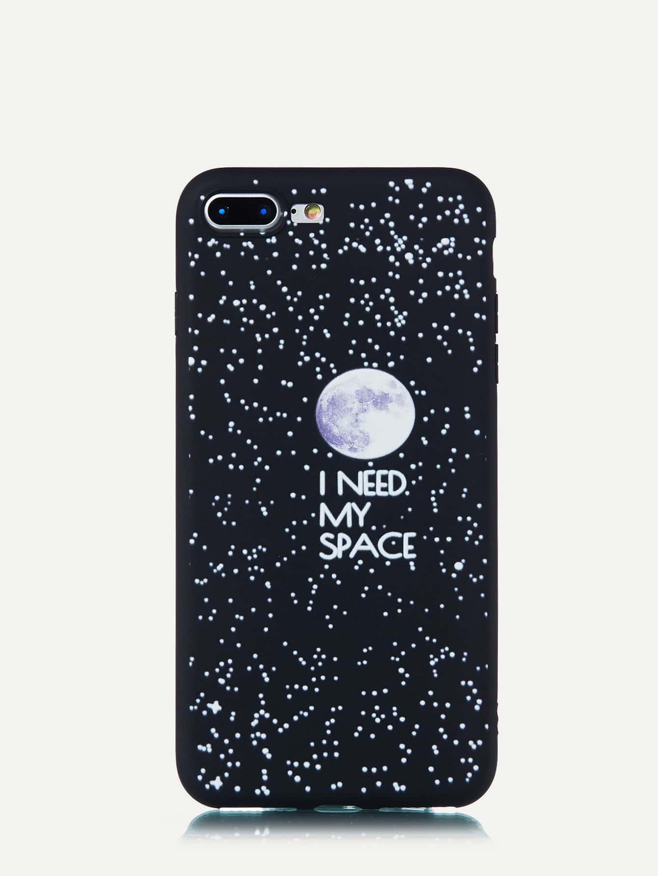 Купить Чехол для iPhone с лозунгом и космическим рисунком, null, SheIn