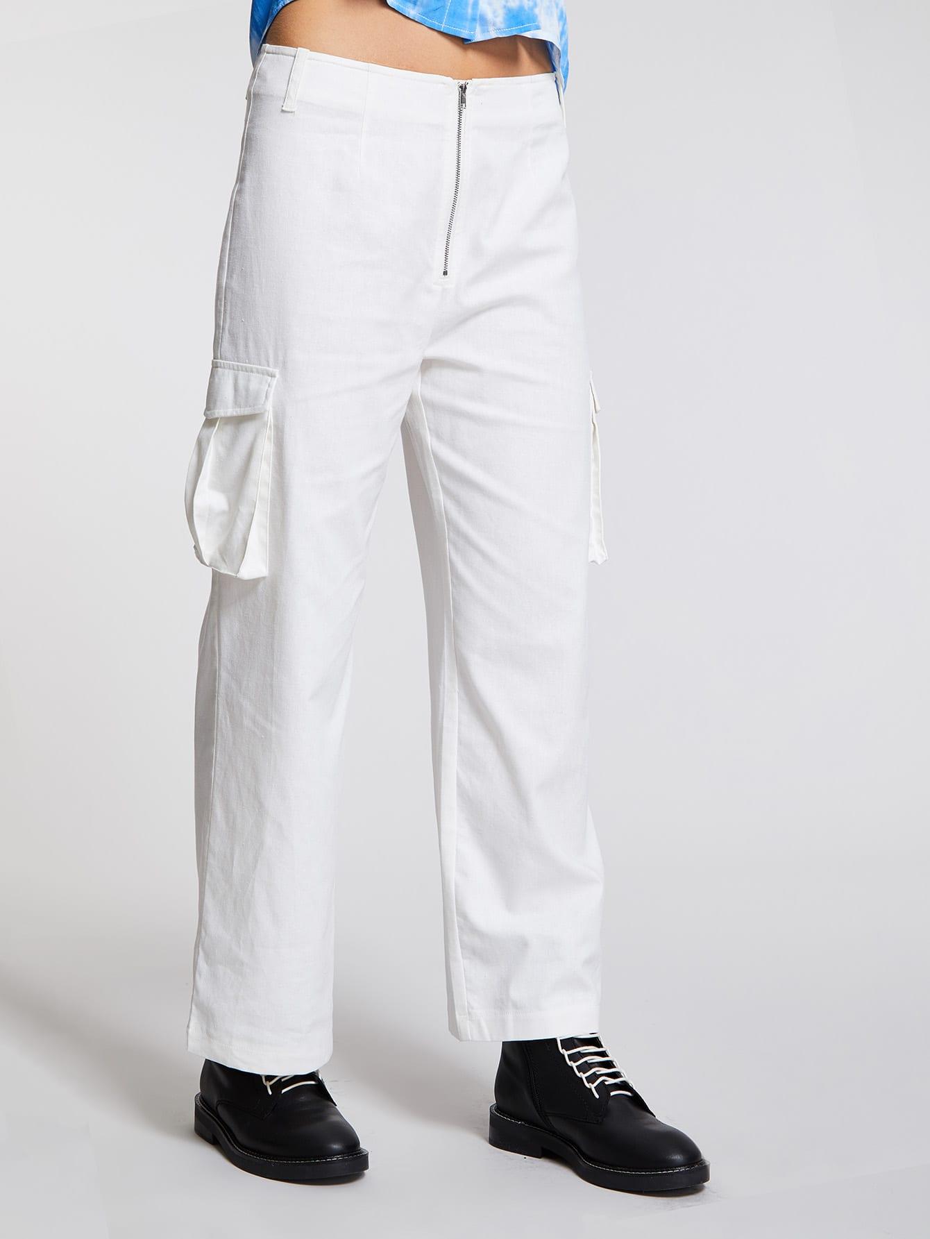 Купить Прямые брюки с карманом, Tilda, SheIn