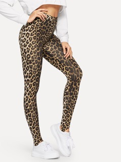 Leopard Print Stirrup Leggings