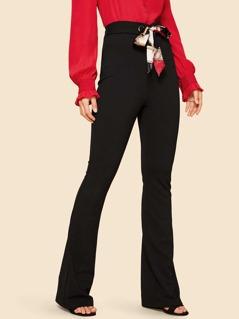 60s Grommet Tie Waist Flared Pants